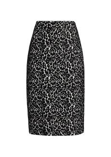 Michael Kors Bonded Lace Pencil Skirt