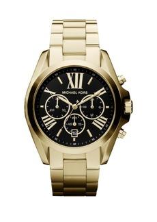 Michael Kors Chronograph Goldtone IP Stainless Steel Bracelet Watch