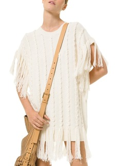 Michael Kors Hand-Embroidered Fringe Sweater