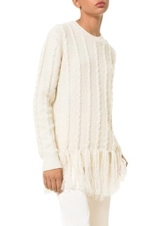 Michael Kors Braided Fringe Sweater