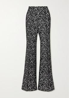 Michael Kors Brooke Lace And Crepe Flared Pants