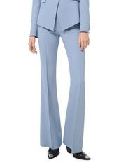 Michael Kors Brooke Side-Zip Double Crepe Sable Pants