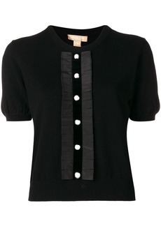 Michael Kors button front knitted top