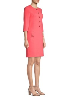 Michael Kors Button-Front Sheath Dress