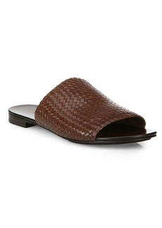 Michael Kors Byrne Woven Leather Slides