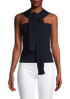 Michael Kors Cable-Knit Cashmere Halter Sweater
