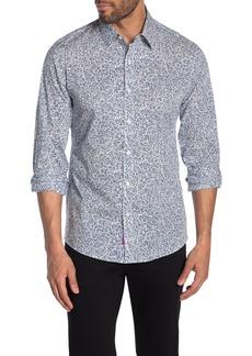 Michael Kors Cabot Leaf Print Slim Fit Shirt