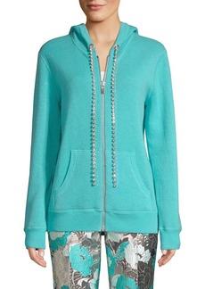 Michael Kors Cashmere & Crystal Embellished Hoodie
