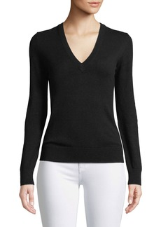 Michael Kors Cashmere Back-Cutout Sweater