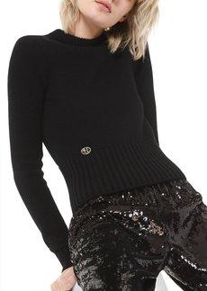Michael Kors Cashmere Cropped Wrap Top
