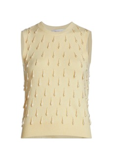 Michael Kors Cashmere Embellished Shell Top