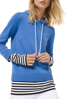 Michael Kors Cashmere Layered Pullover Hoodie