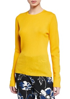 Michael Kors Cashmere Ribbed Long-Sleeve Top