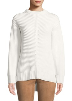 Michael Kors Cashmere Ribbed Tunic Sweater