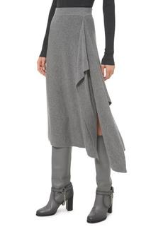 Michael Kors Cashmere Scarf Knit Midi Skirt