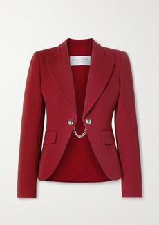 Michael Kors Chain-embellished Wool-twill Blazer