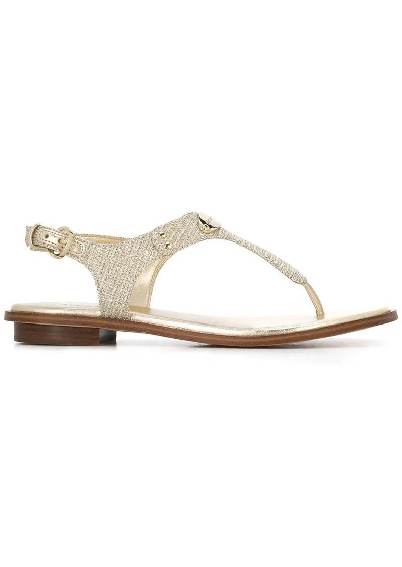 Michael Kors chain-mesh thong sandals