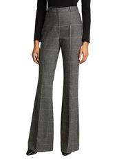 Michael Kors Charlie Glen Plaid Flare-Leg Pants