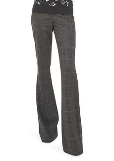 Michael Kors Charlie Glenplaid Stretch Flannel Flare-Leg Trousers