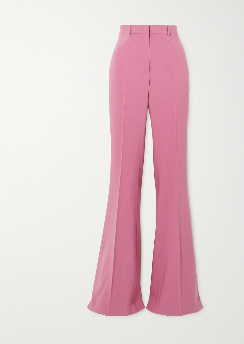 Michael Kors Charlie Wool-blend Crepe Flared Pants