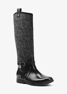 Michael Kors Charm Tweed and Rubber Rain Boot