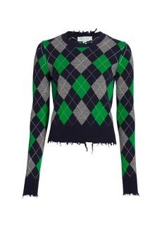 Michael Kors Check Argyle Cashmere Pullover