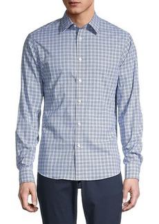 Michael Kors Checkered Stretch-Fit Shirt