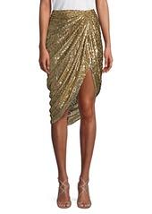 Michael Kors Cheetah Fil Coupe Sarong Skirt