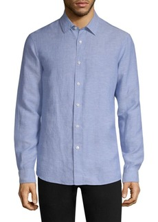 Michael Kors Classic Long-Sleeve Button-Down Shirt