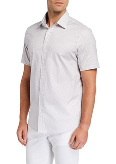 Michael Kors Cole Short-Sleeve Printed Sport Shirt