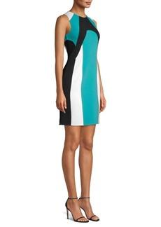 Michael Kors Colorblock Scuba Sheath Dress