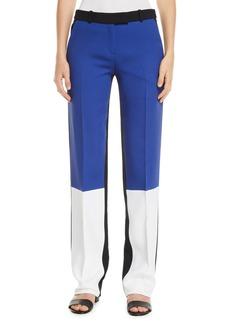Michael Kors Colorblocked Crepe-Sable Trousers