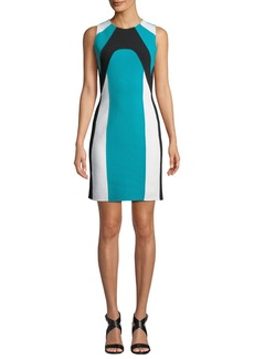 Michael Kors Colorblocked Stretch-Boucle Dress