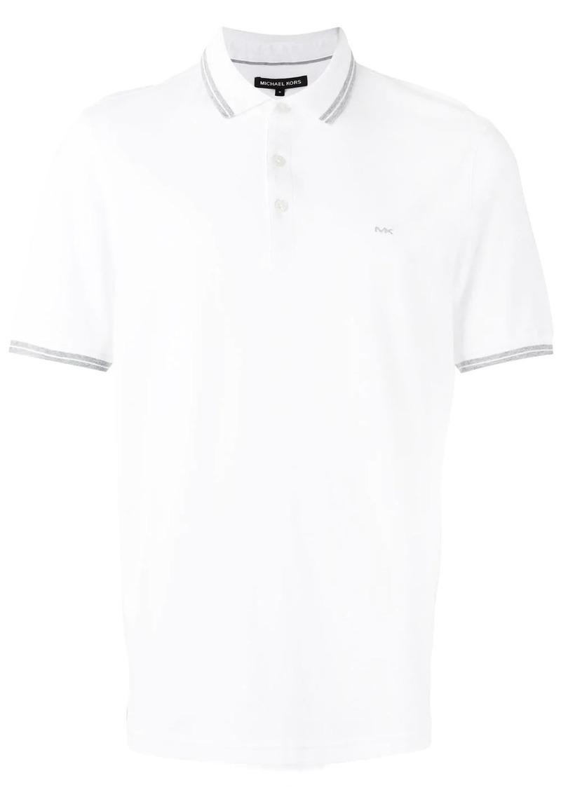 Michael Kors contrast detail polo shirt
