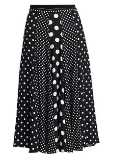 Michael Kors Contrast Polka Dot Dance Skirt