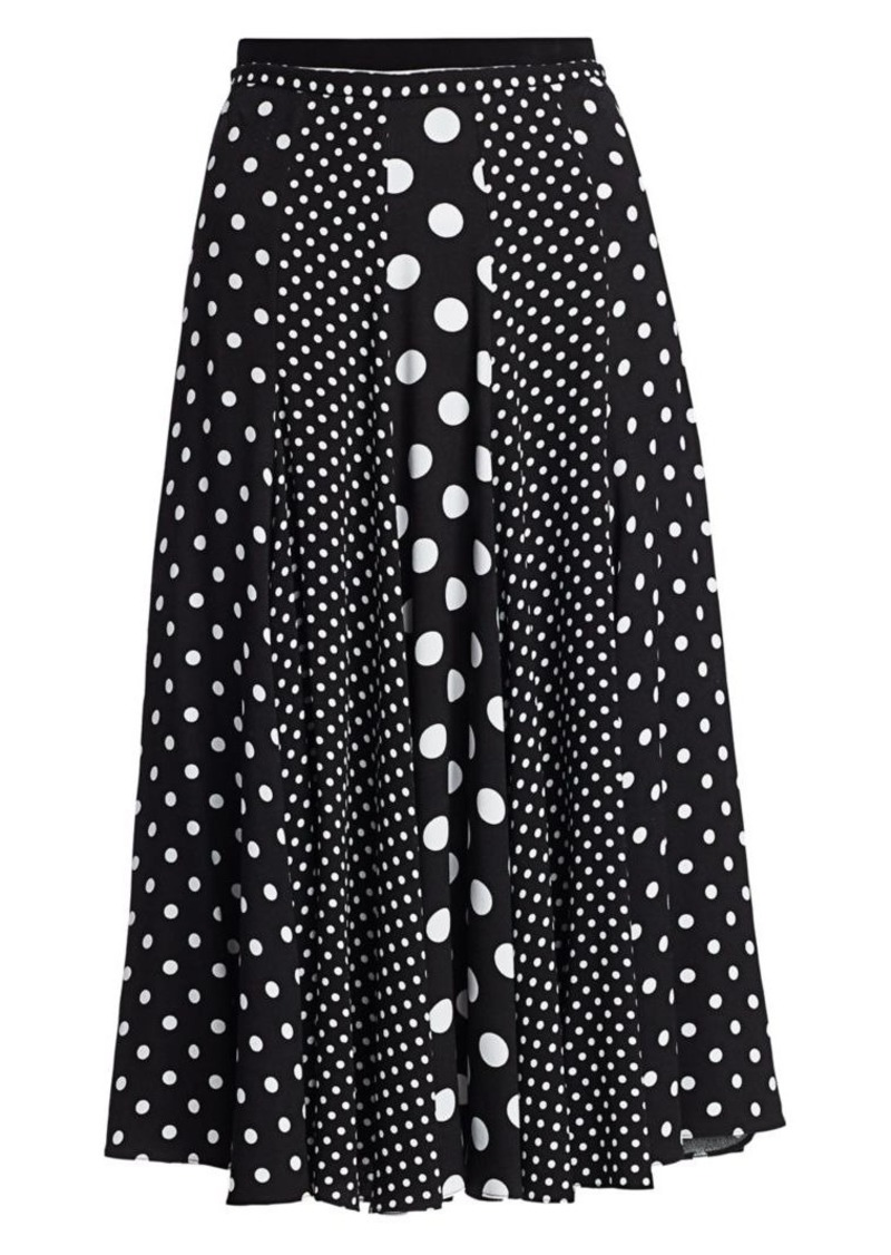 Michael Kors Contrast Polka Dot Dance Skirt