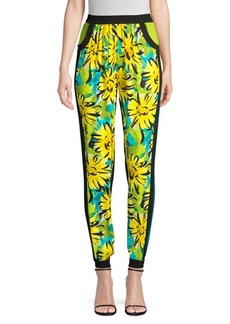 Michael Kors Contrast Silk Floral Track Pants