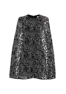 Michael Kors Corded Lace Cape Dress