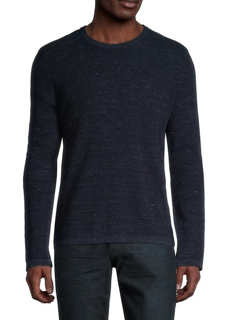 Michael Kors Cotton & Wool Waffle-Knit Sweater