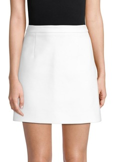 Michael Kors Cotton Crepe Mini Skirt