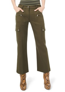 Michael Kors Cotton Twill Cargo Flare Pants