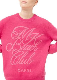 Michael Kors Cotton/Cashmere Capri Beach Club Sweatshirt