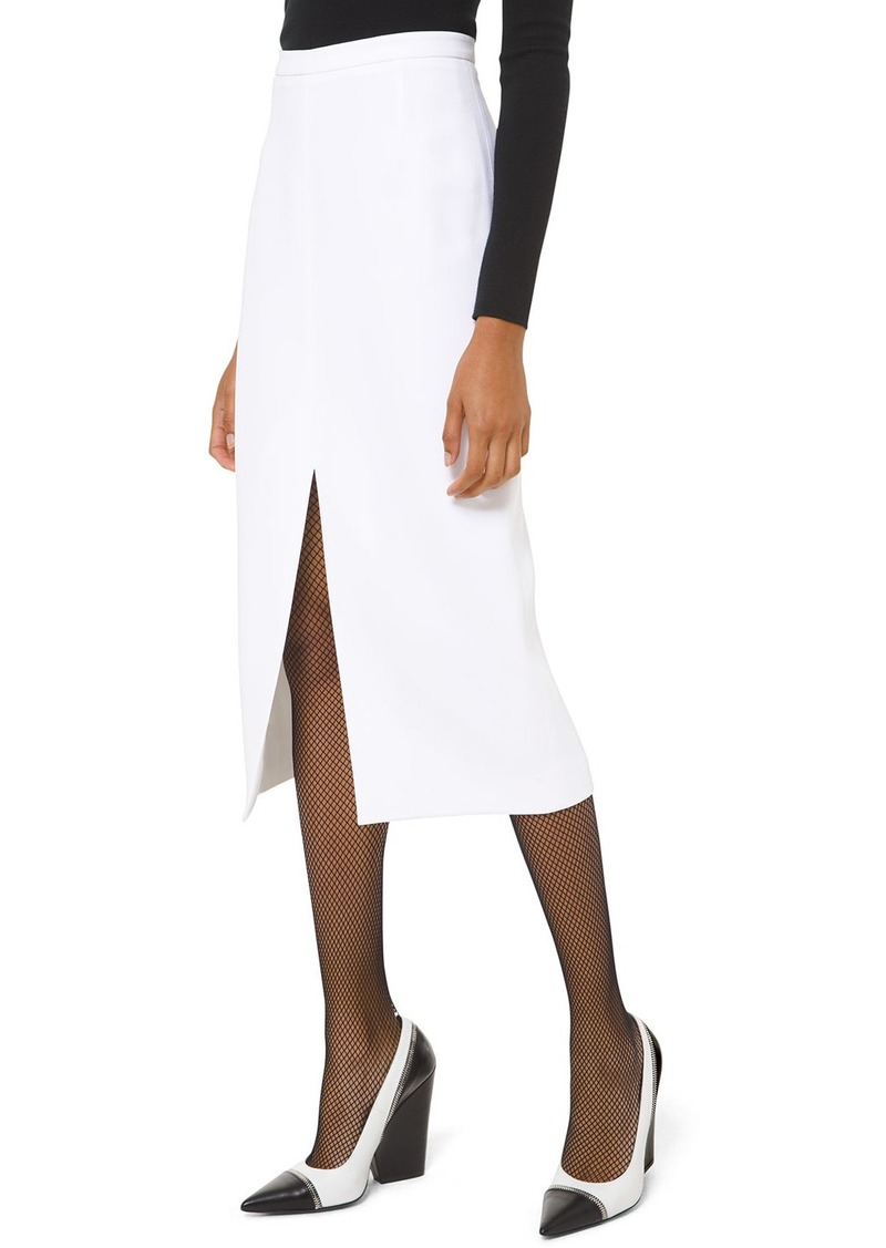 Michael Kors Crepe Slit-Hem Pencil Skirt