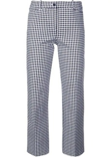 Michael Kors cropped check trousers