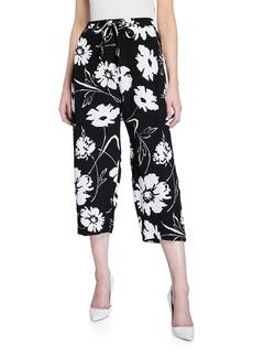 Michael Kors Cropped Floral Pajama Pants