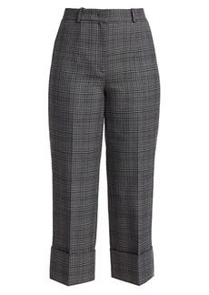 Michael Kors Cropped Plaid Wool Cuffed Pants