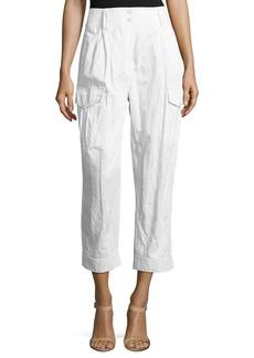 Michael Kors Cropped Straight-Leg Cargo Pants