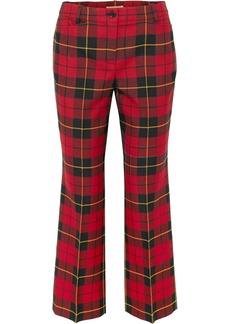 Michael Kors Cropped Tartan Wool Straight-leg Pants
