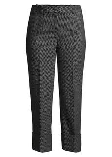 Michael Kors Cropped Virgin Wool Herringbone Trousers