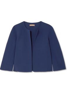 Michael Kors Cropped Wool-blend Crepe Jacket